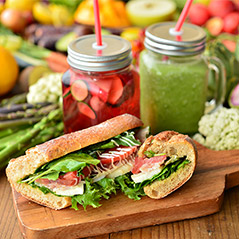 Smoothie and Sandwich