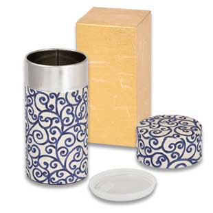Tea Caddy AIZOME (ARABESQUE)